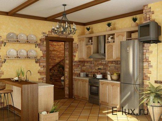 Стены на кухне - выбор отделочных материалов, отделка