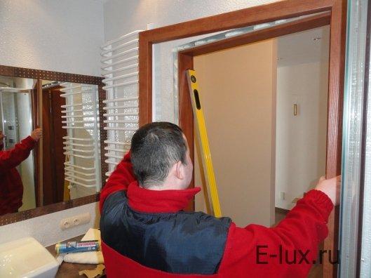 Этап подготовки к установке двери