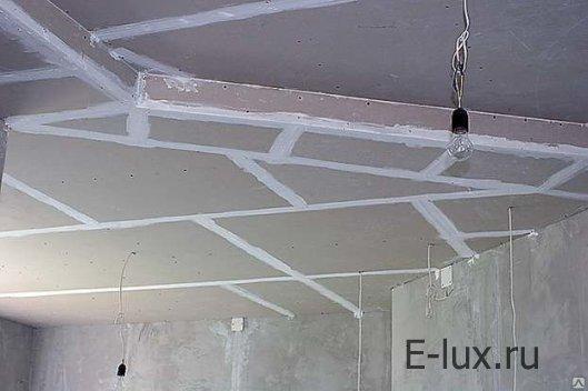 Потолок из листов гипсокартона