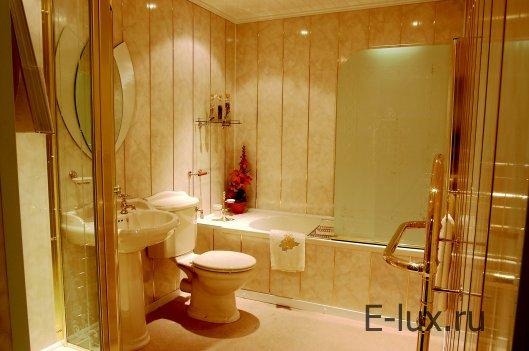 Стены в ванной — виды отделки, практичность материалов