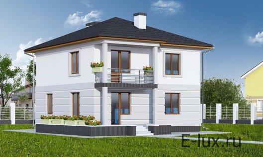 Строительство двухэтажного квадратного дома