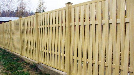 Заборы из древесно-полимерного композита