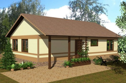 Проекты одноэтажных домов: преимущества каркасной технологии