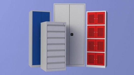 Применение металлических шкафов и гардеробных